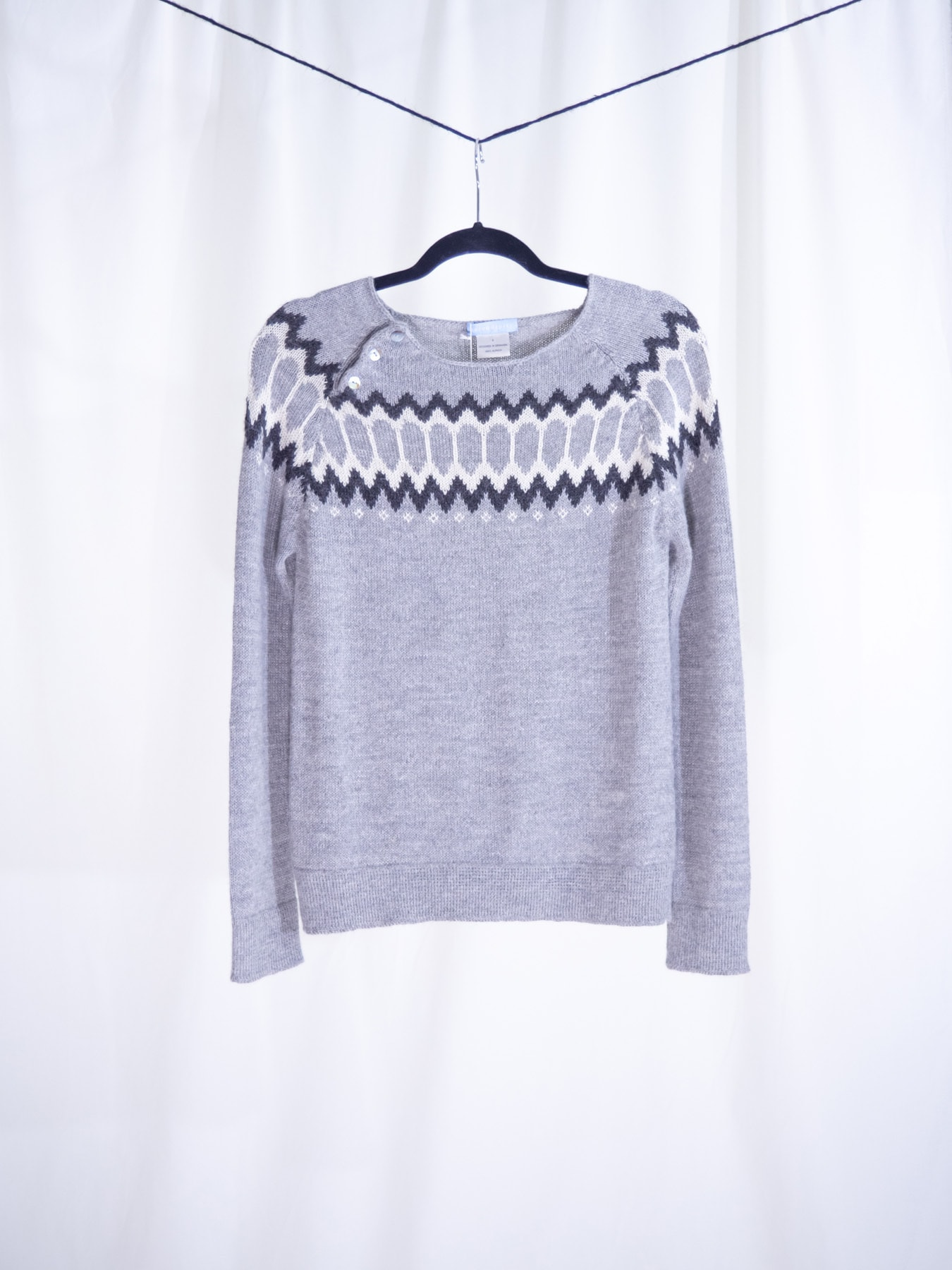 Raglan sweater grey