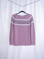 Raglan sweater dusty rose