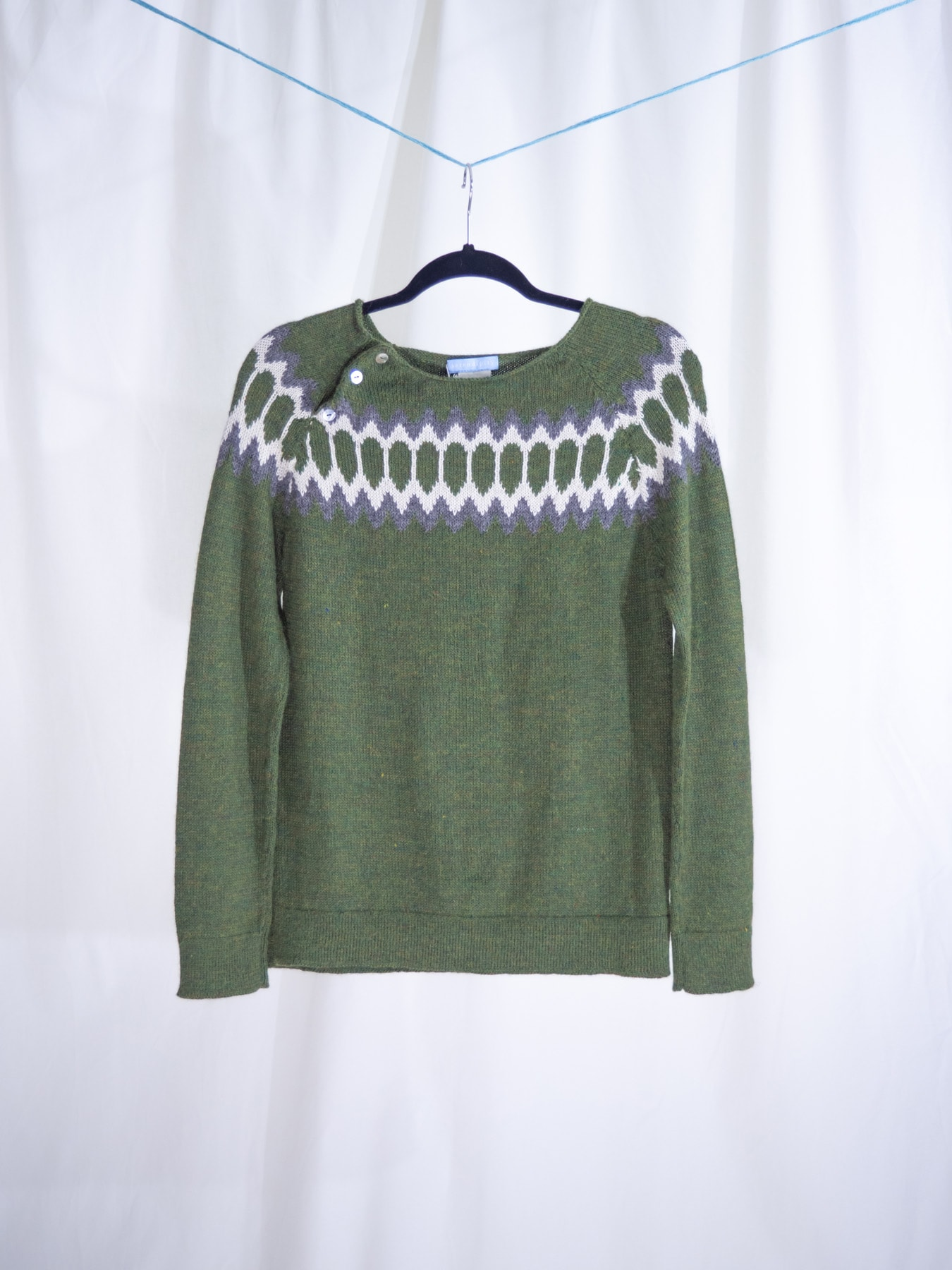 Raglan sweater green
