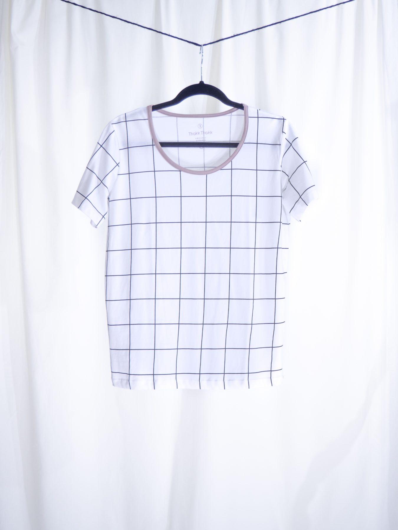 Squared print T-shirt
