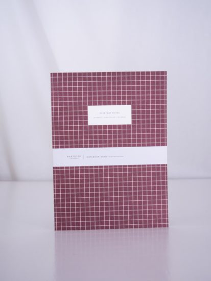Check bordeaux notebook large