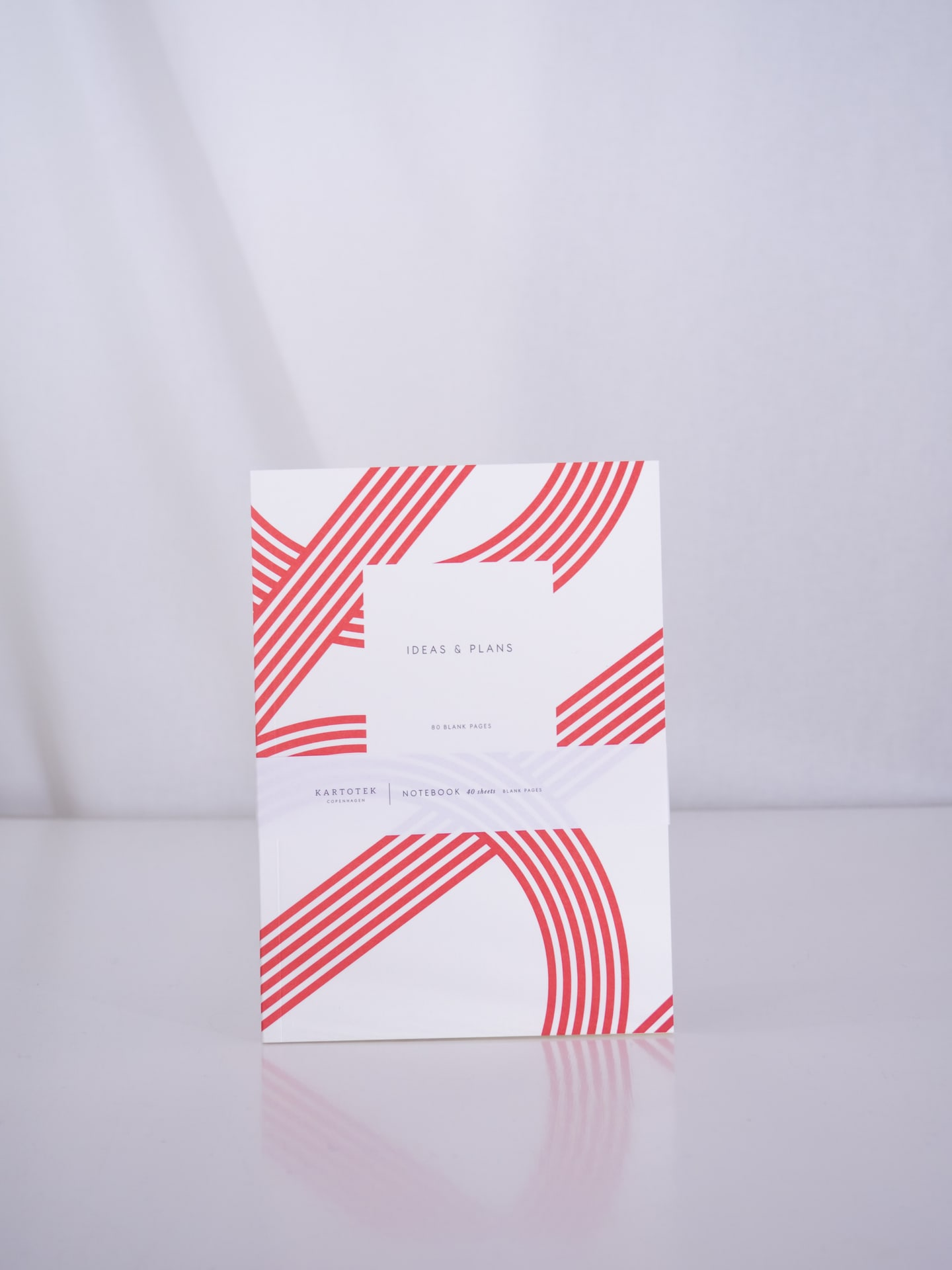 Lines red notebook small