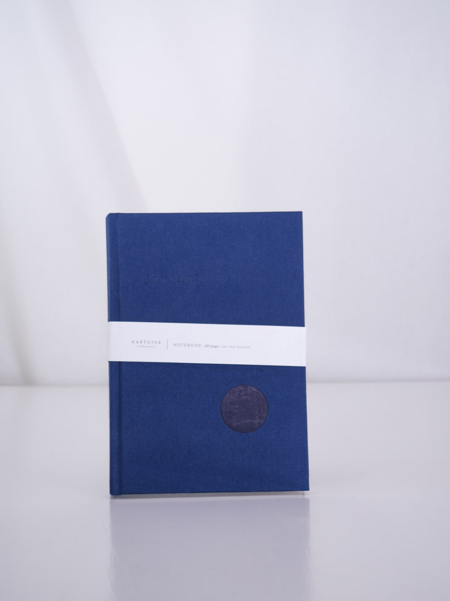 Hardcover notebook navy