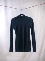 Shirt with turtle neck black