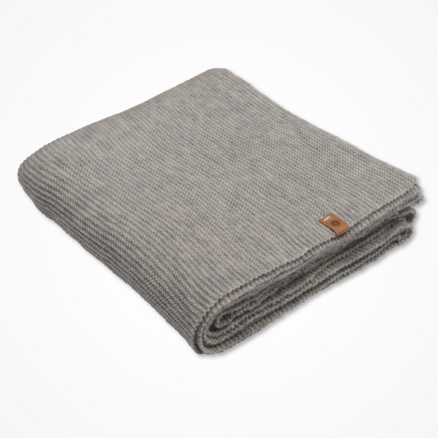 Merino scarf - flint grey