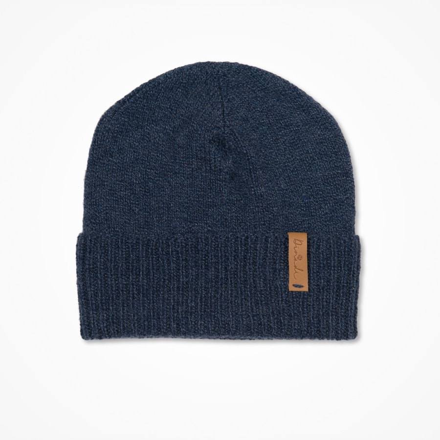 Merino cuffed hat midnight blue
