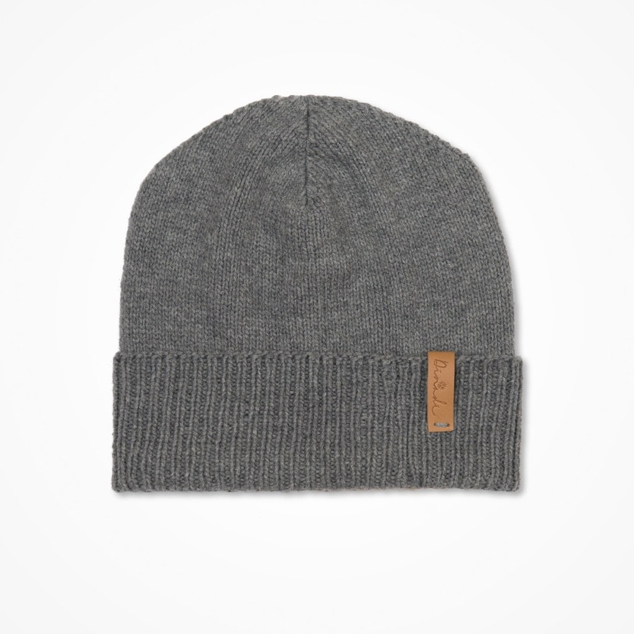 Merino cuffed hat flint grey