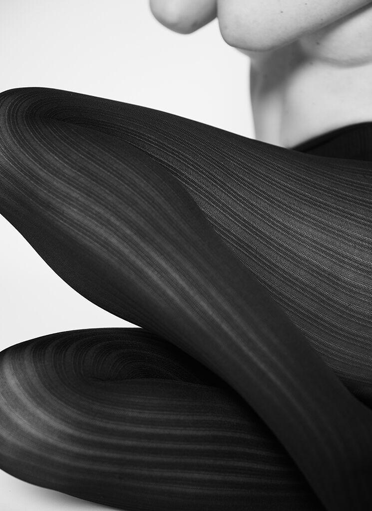 Alma rib tights black