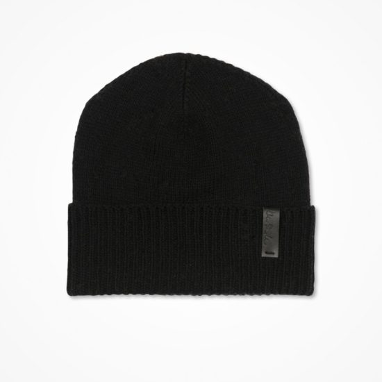 Merino cuffed hat black