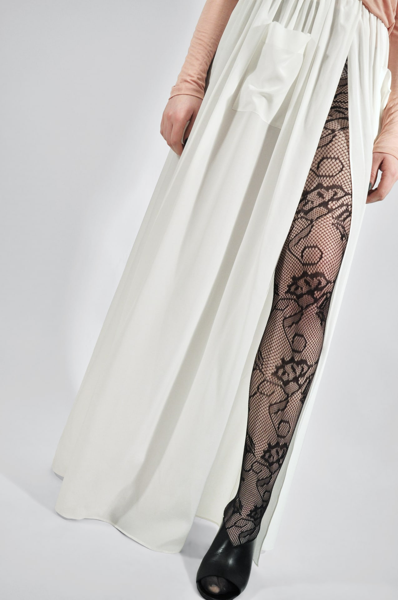 Frida lace tights black