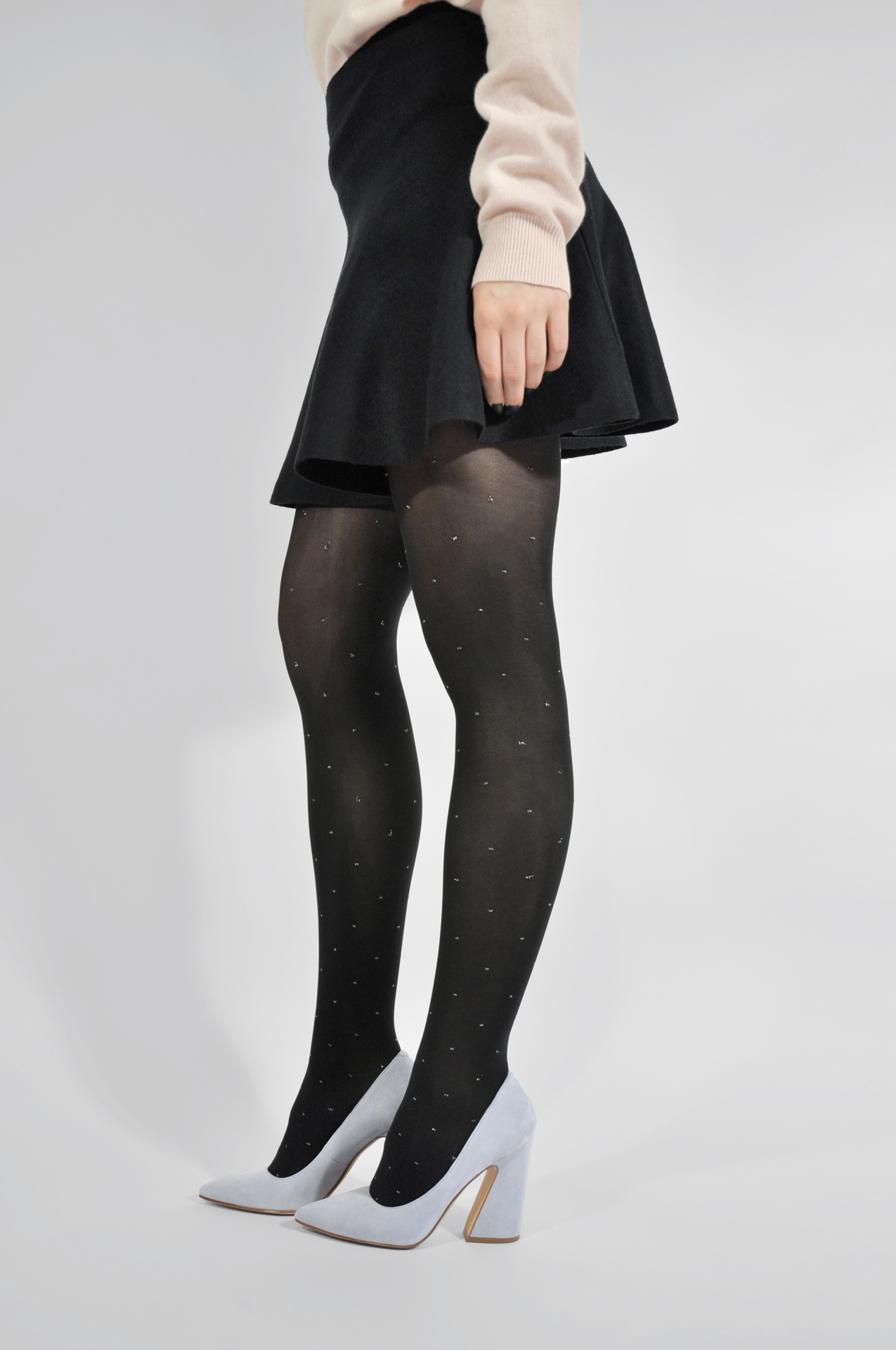 Filippa dots tights black
