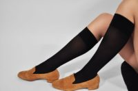 Ingrid premium knee-highs black