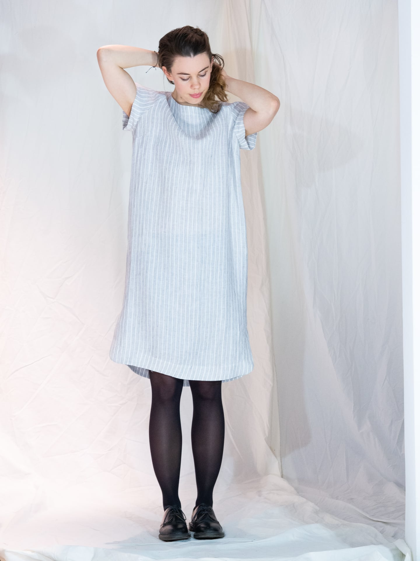 Avery wide linen dress