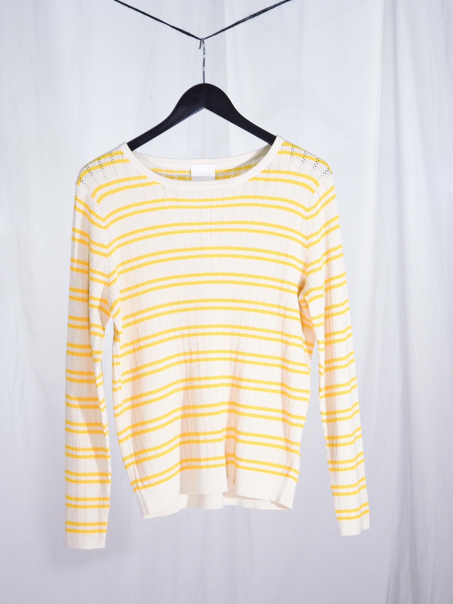 Structure blouse, ecru/yellow