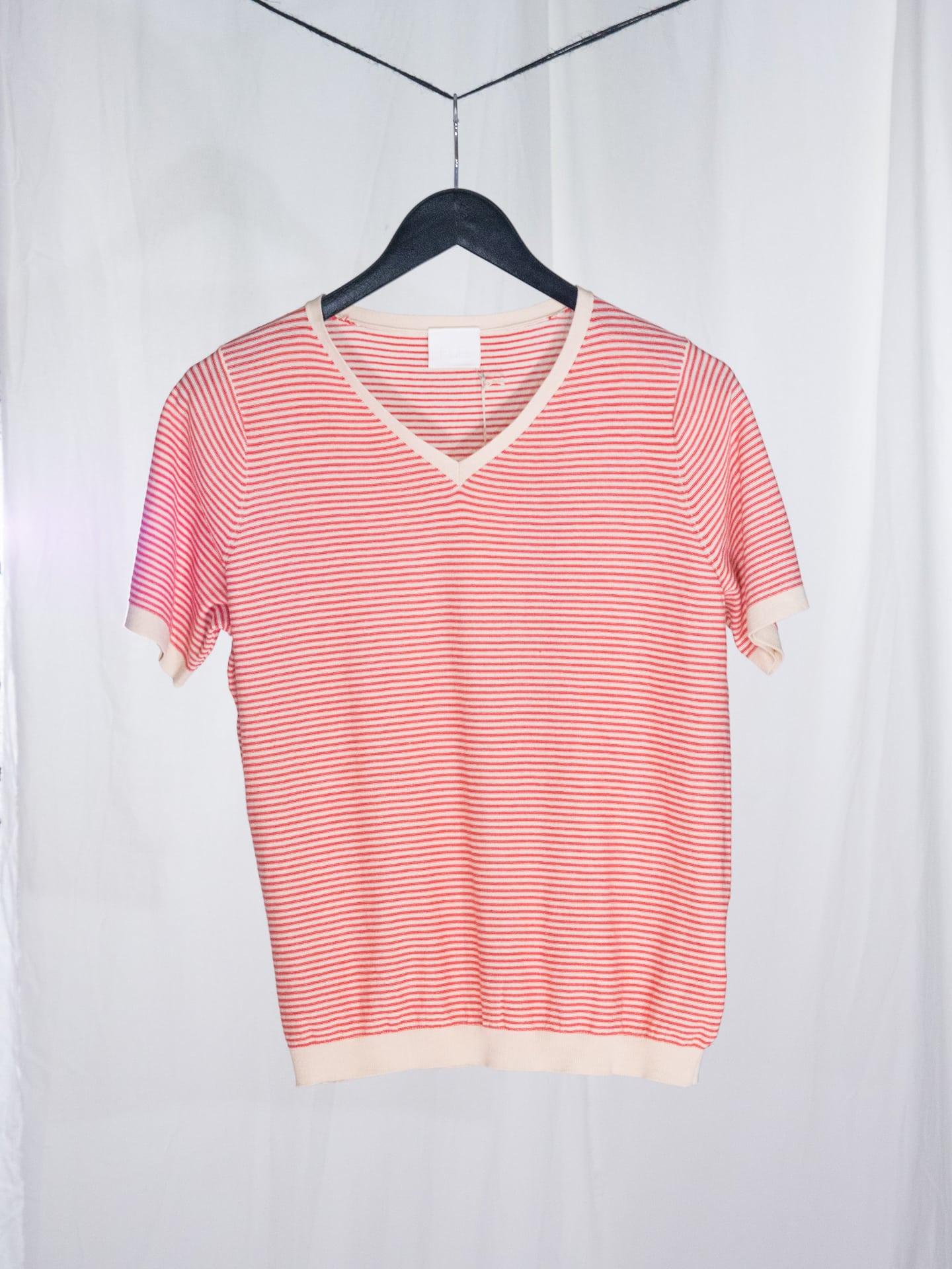 T-shirt ecru/red
