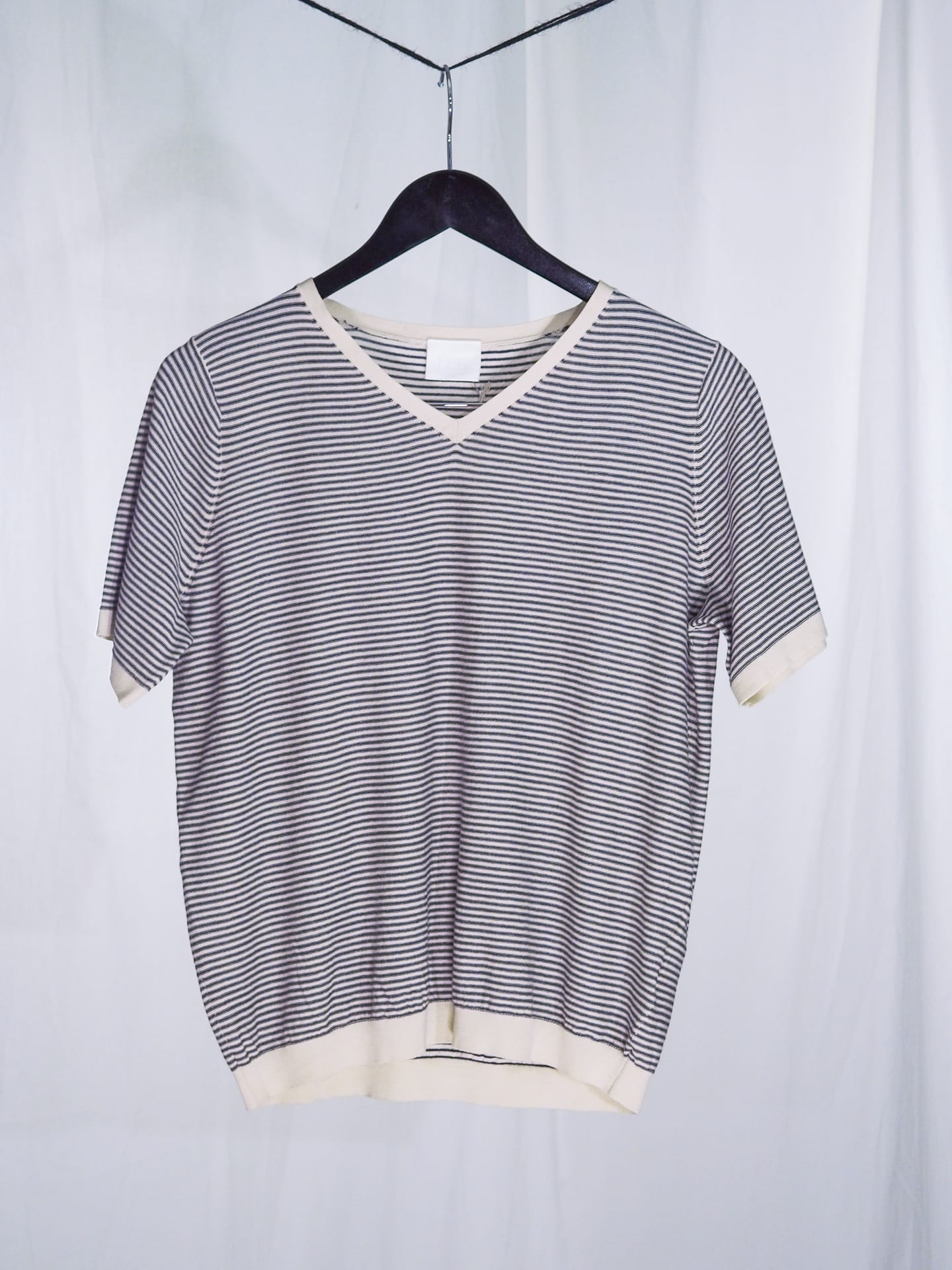T-shirt ecru/black