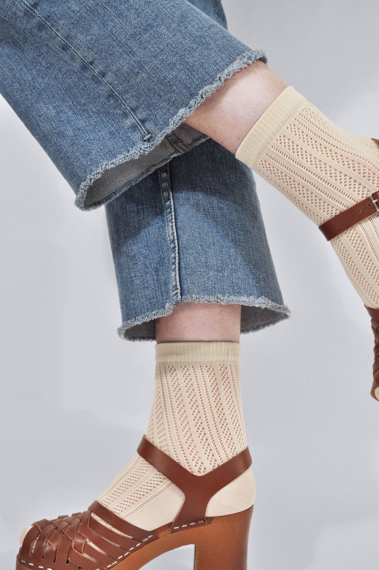 Klara knit socks ivory