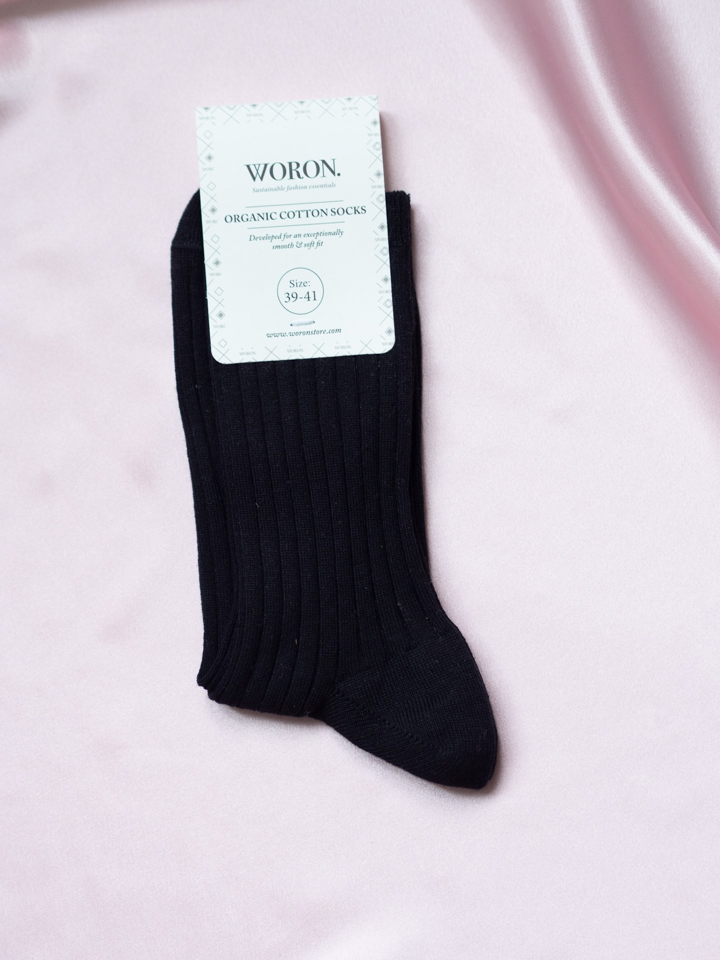 Organic cotton socks black