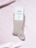 Organic cotton socks dusty rose