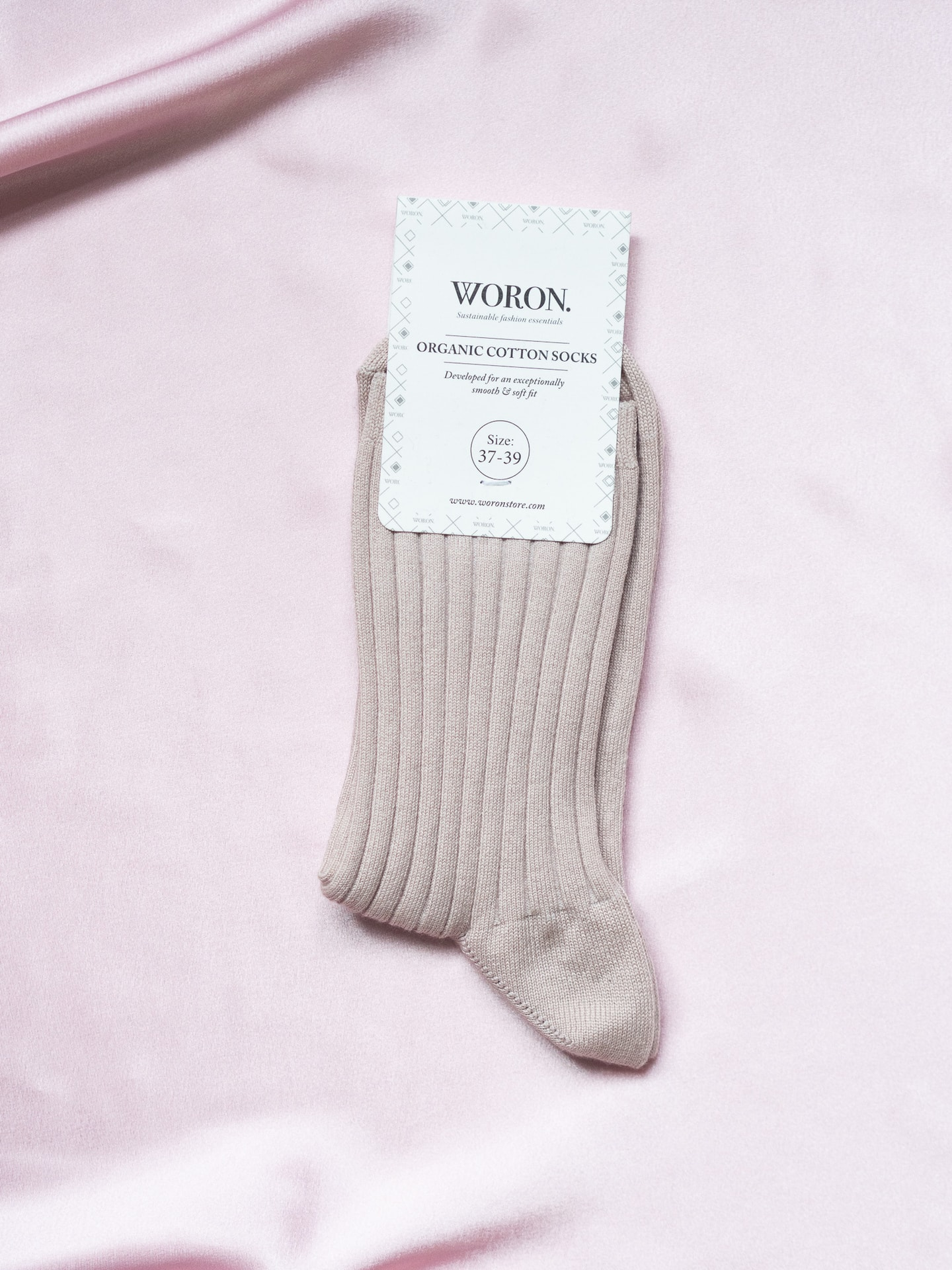 Organic cotton socks dusty rose