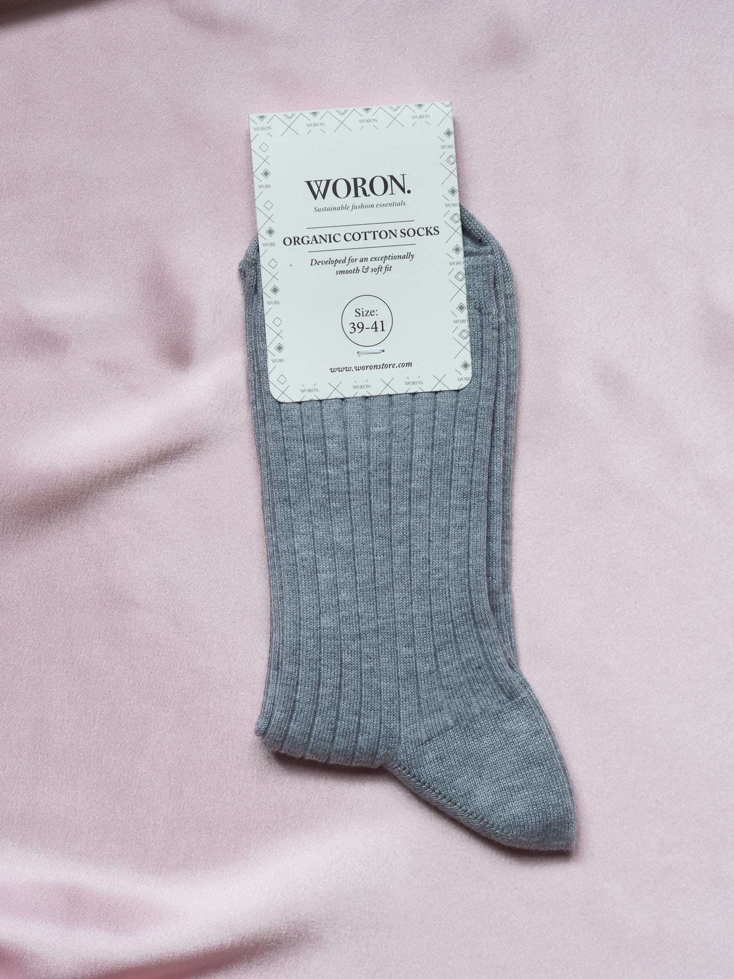 Organic cotton socks grey