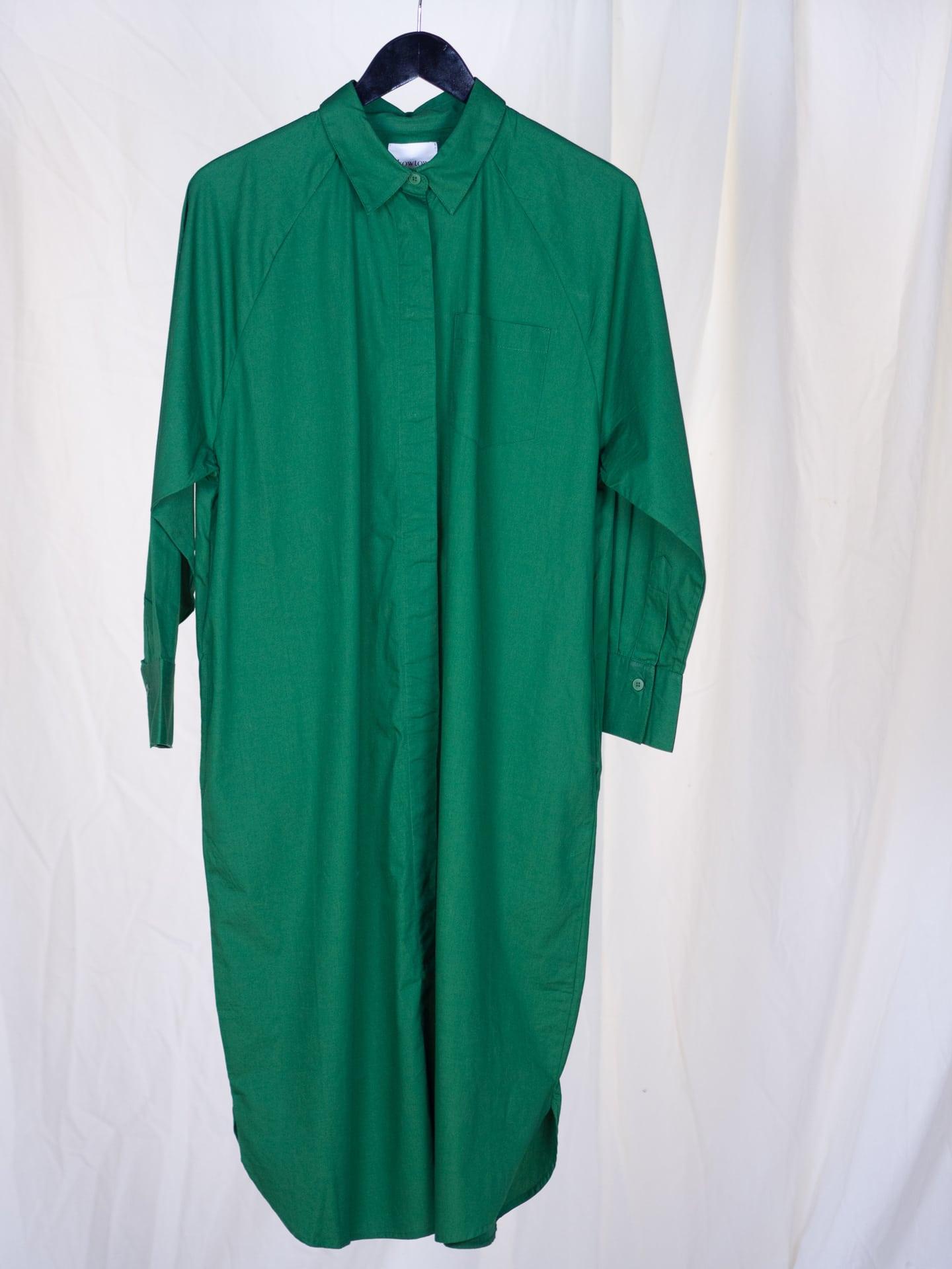 Shirt dress evergreen