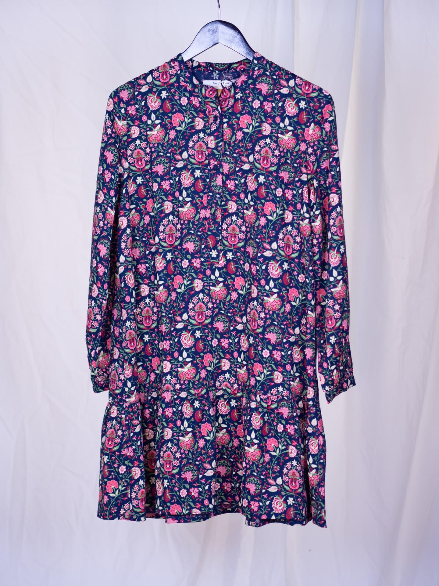 Yasmin print flared dress