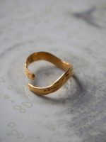 Oh my darling wavy gold ring