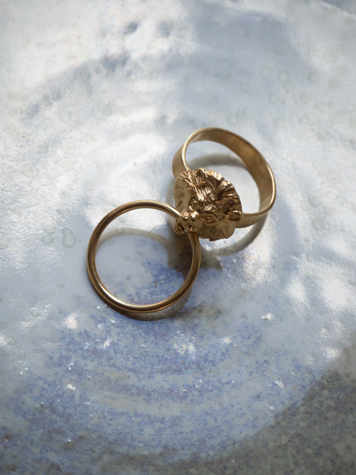 Noble lion gold ring