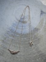 Rock on silver necklace