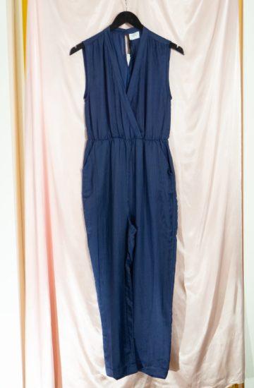 Handwoven silk-cotton jumpsuit divya