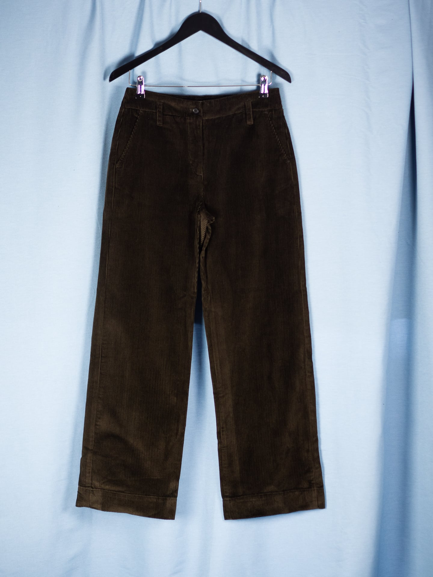 Ira straight cord trousers