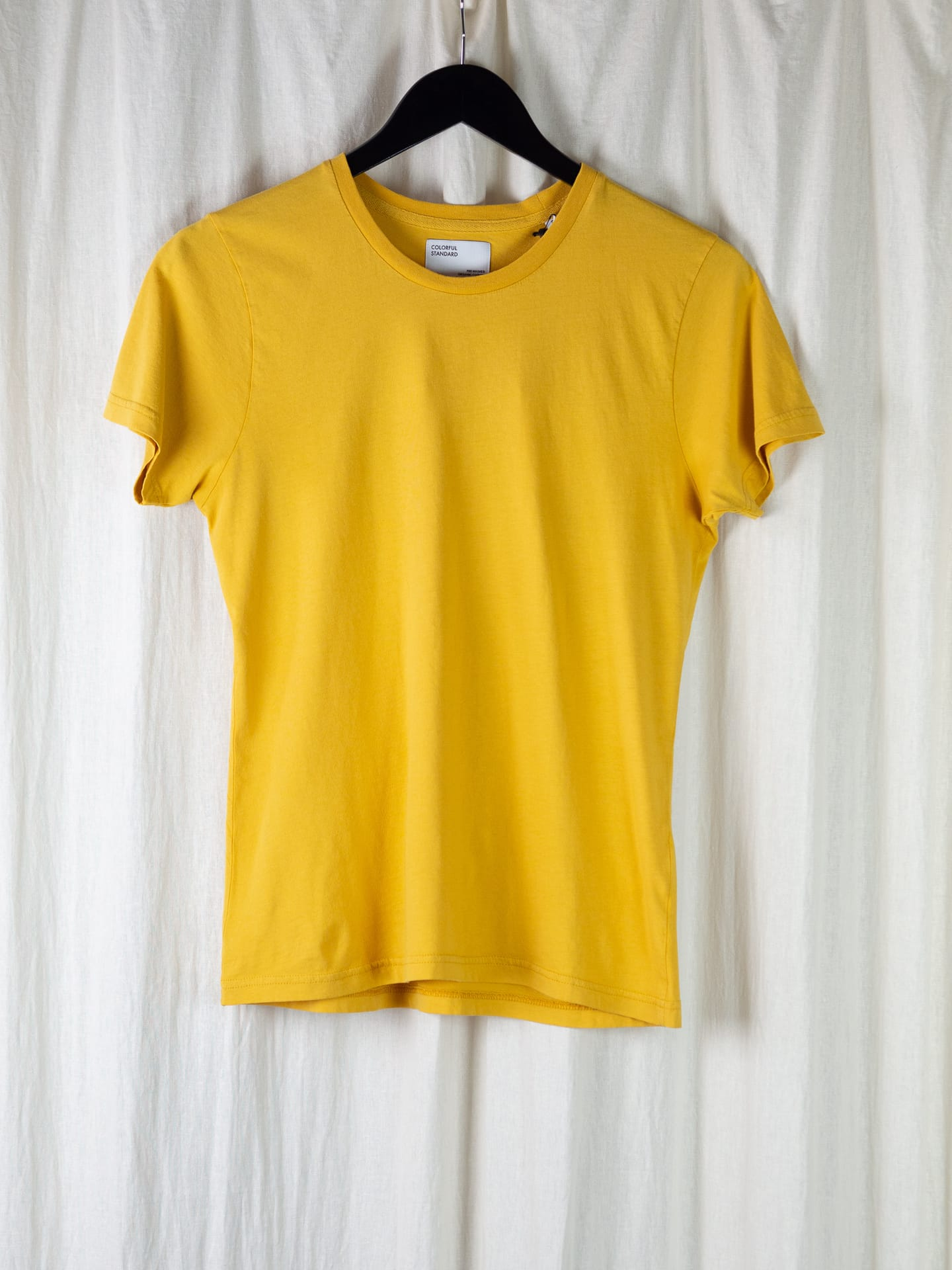 Women light organic tee – burned yellow