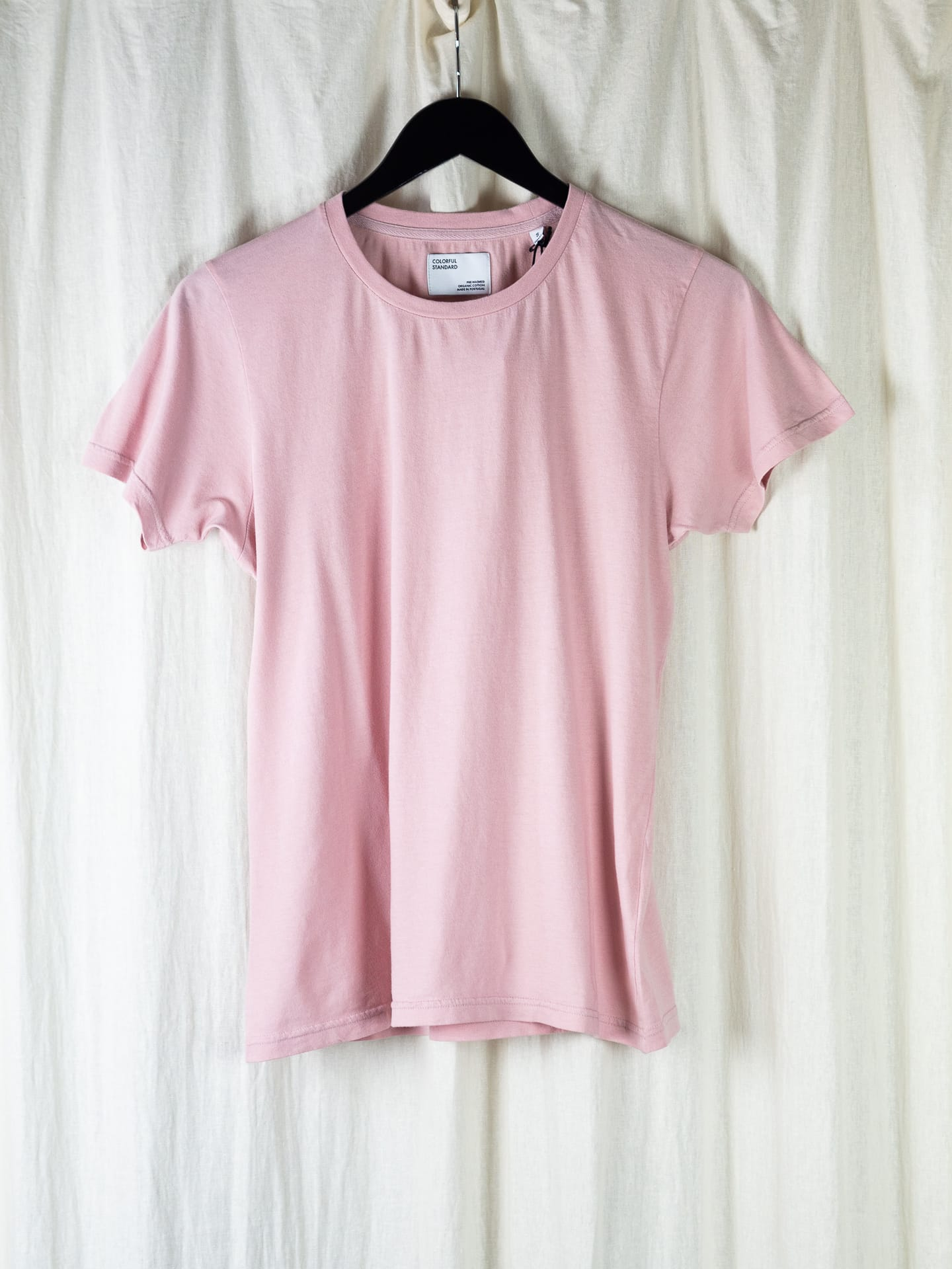 Women light organic tee – faded pink