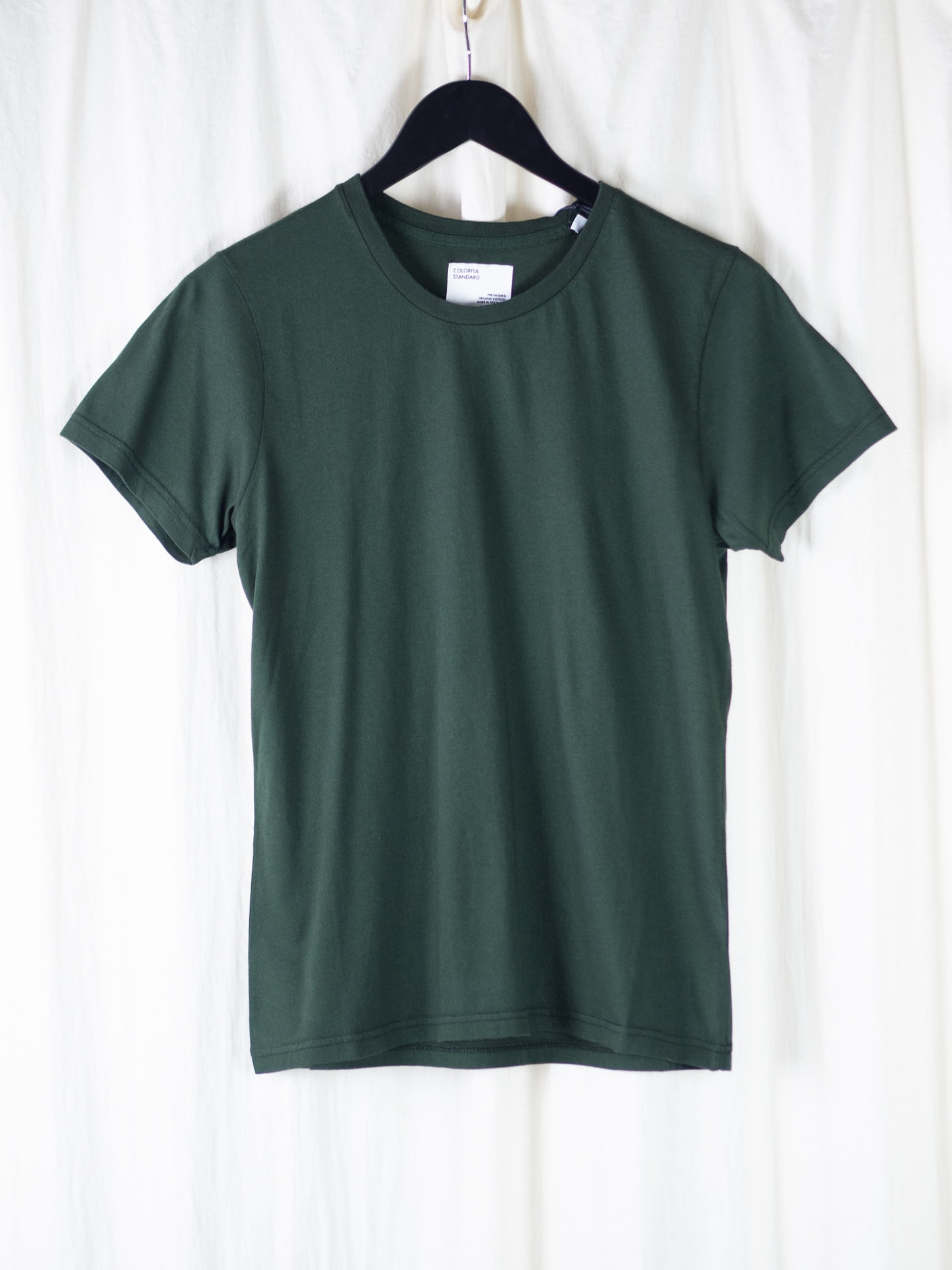 Women light organic tee – hunter green