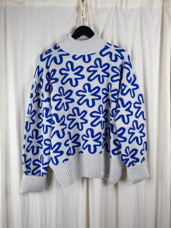 Sketch jumper cobalt