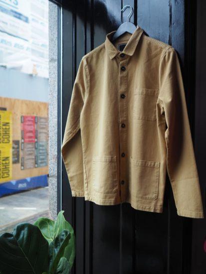 Worker jacket camel
