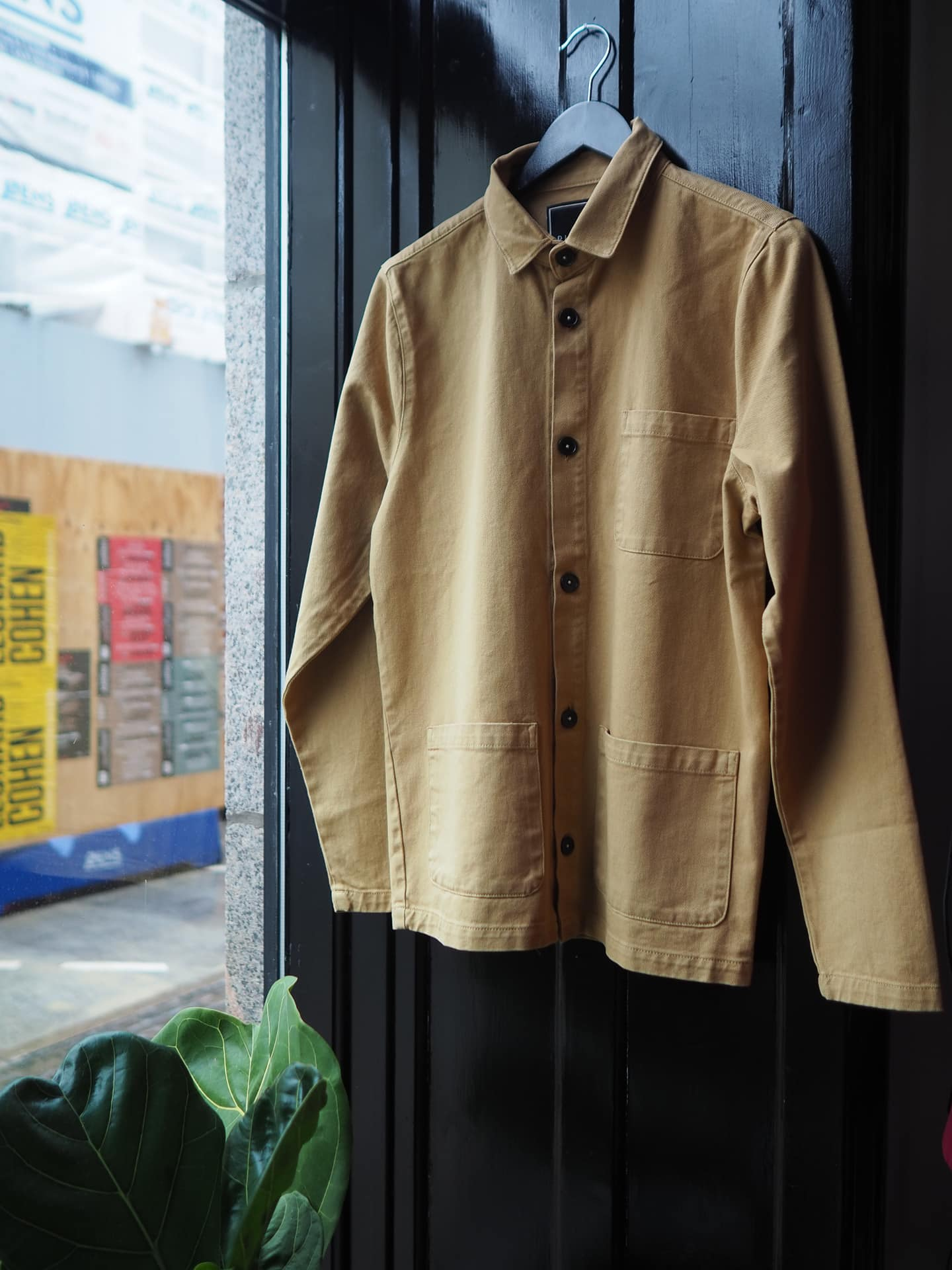 Worker jacket camel