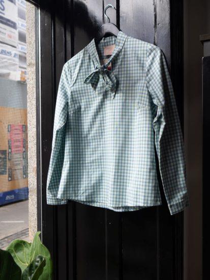 Berta blouse bluegreen checkred