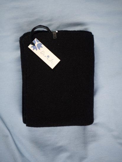 Merino scarf - black