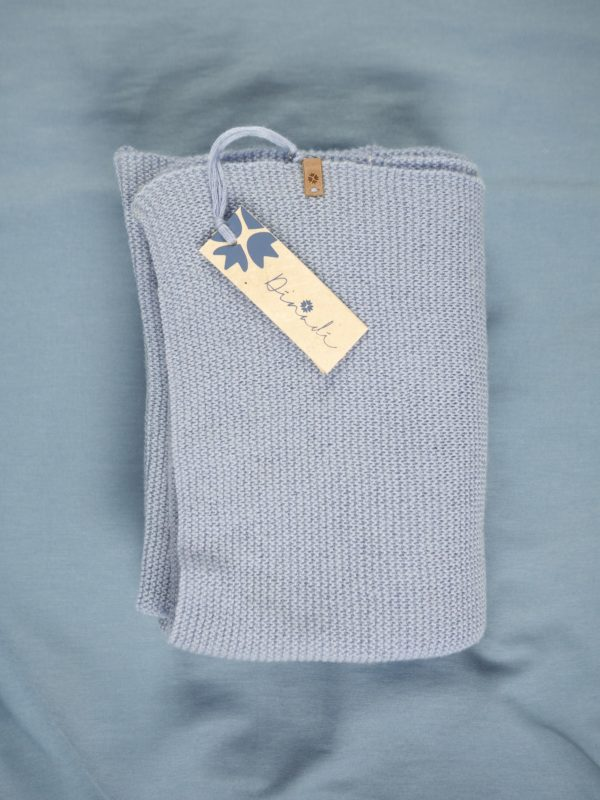 Merino scarf - ice blue