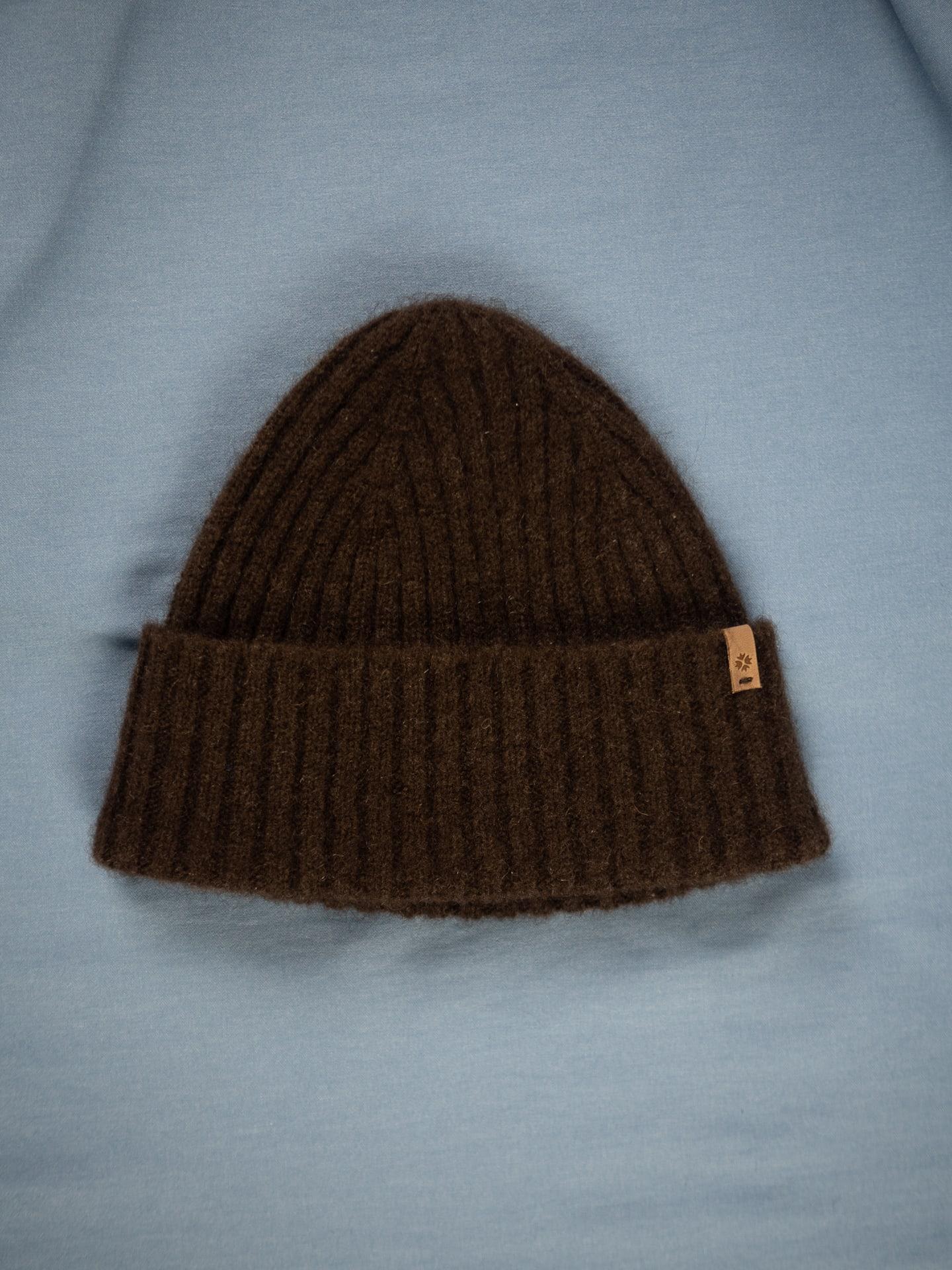 Yak fitted rib hat - dark brown