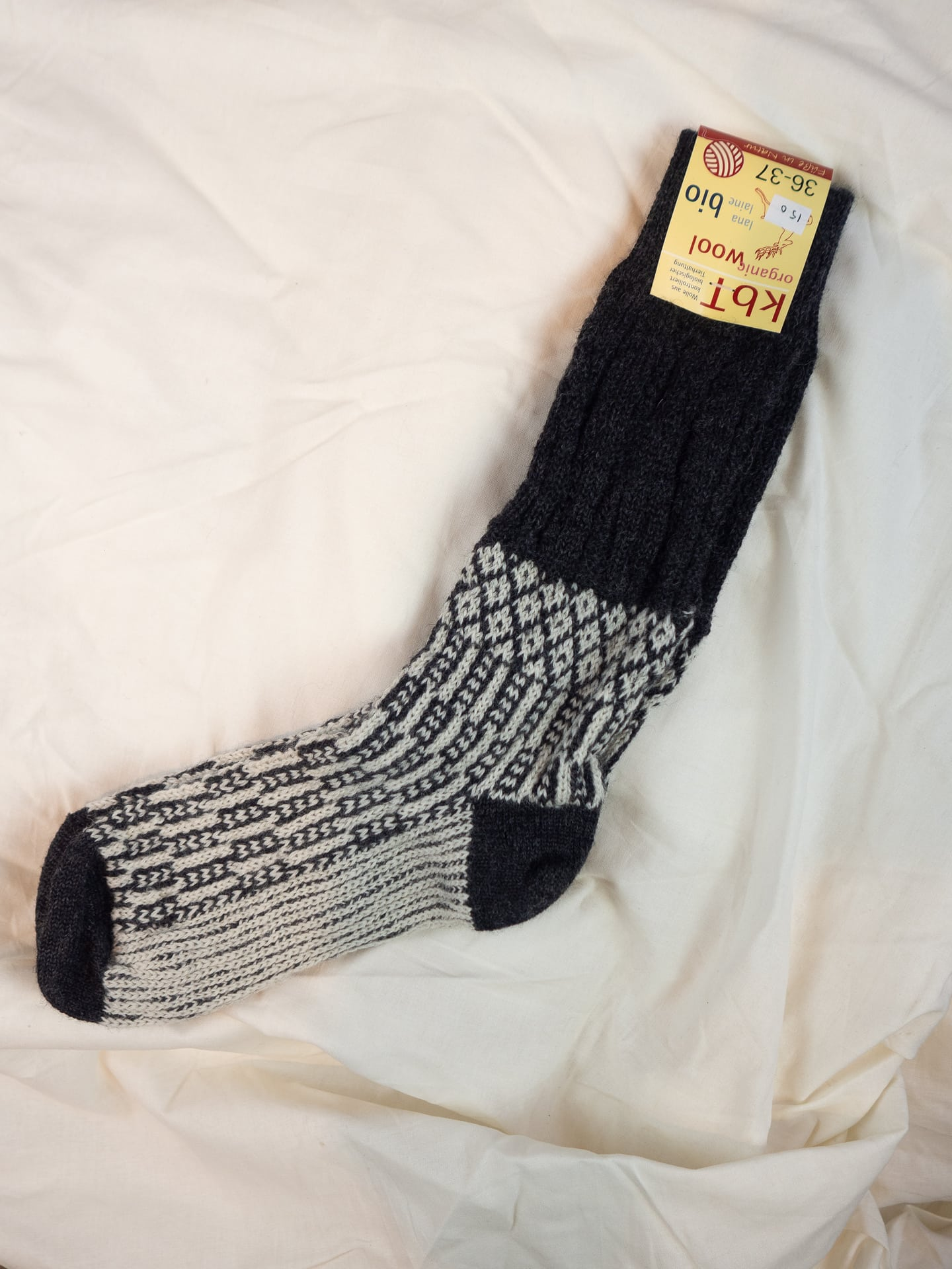 Wool socks grey/white