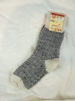 Wool socks fine knit white/black