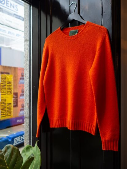 Lambswool strik orange