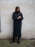 Knitdress genevieve pinegreen