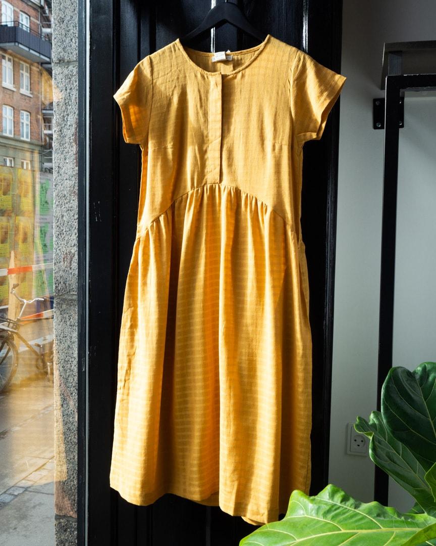 Dress golden checks