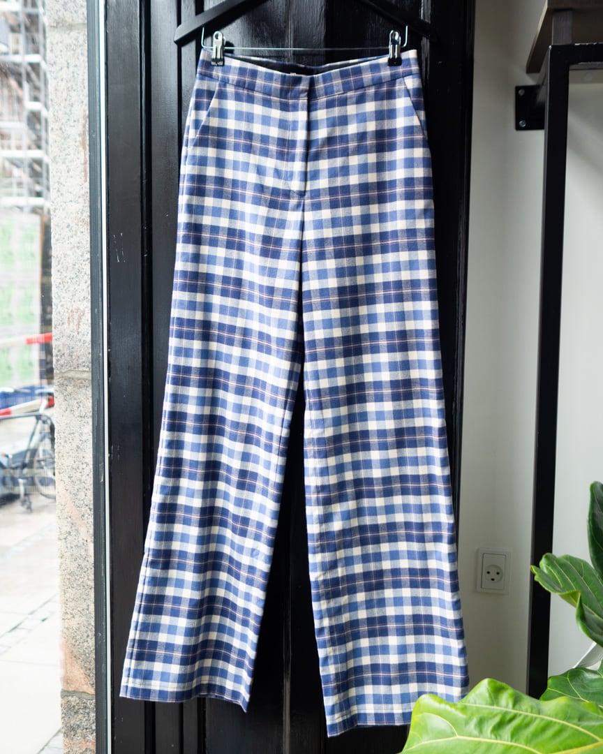 Pinda pants organic blue chekered