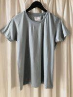 Women light organic tee – steel blue