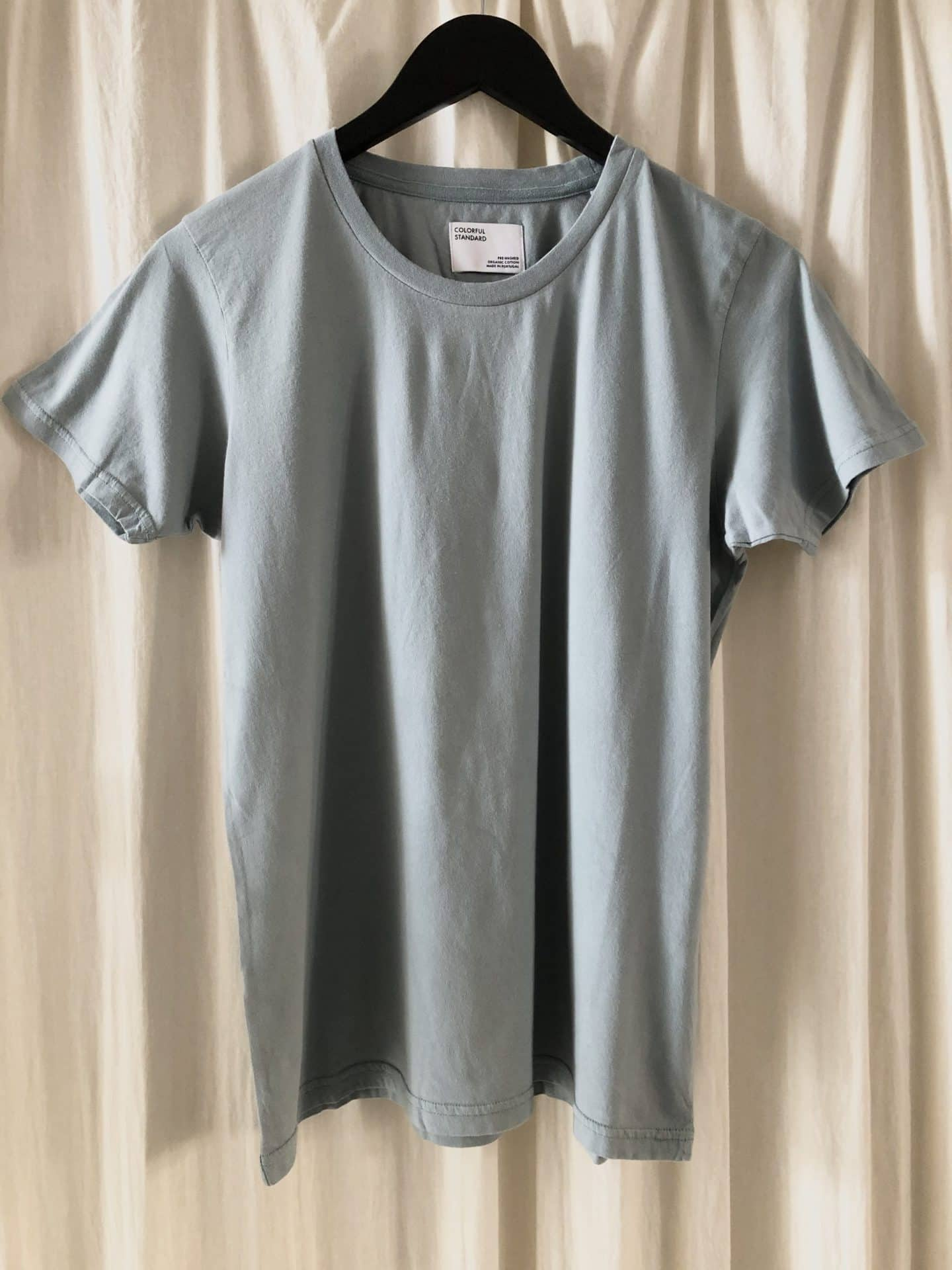 Women light organic tee – steel blue